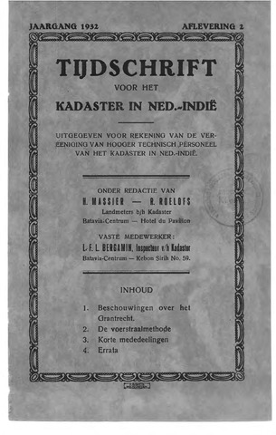 Tijdschrift voor het Kadaster in Ned.-Indië 1932-04-01