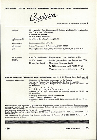 (NGT) Geodesia 1961-09-01