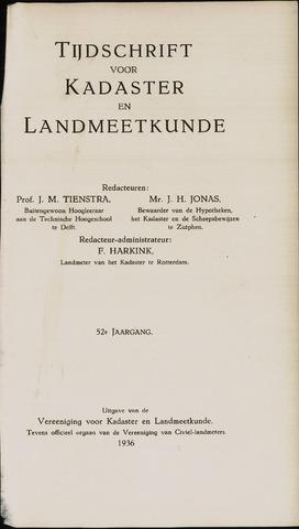 Tijdschrift voor Kadaster en Landmeetkunde (KenL) 1936