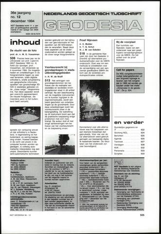 (NGT) Geodesia 1994-12-01