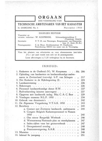 Orgaan der Vereeniging TAK 1950-11-01