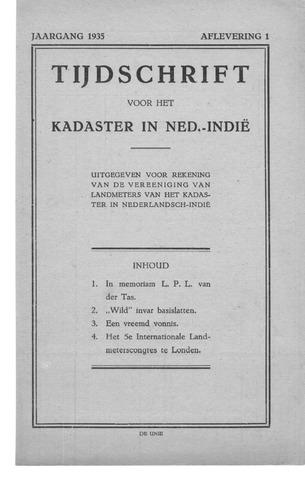Tijdschrift voor het Kadaster in Ned.-Indië 1935-01-01