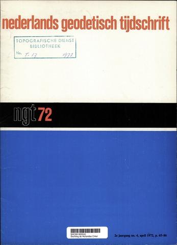 Nederlands Geodetisch Tijdschrift (NGT) 1972-04-01
