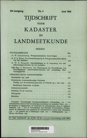 Tijdschrift voor Kadaster en Landmeetkunde (KenL) 1966-06-01