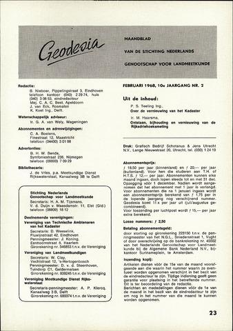 (NGT) Geodesia 1968-02-01