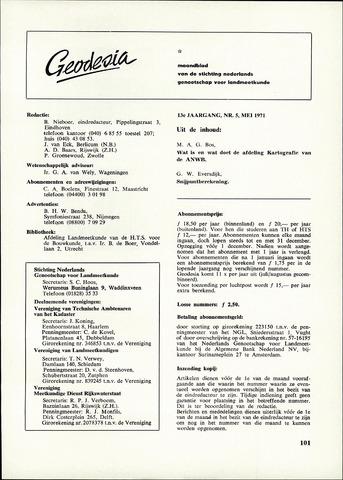 (NGT) Geodesia 1971-05-01