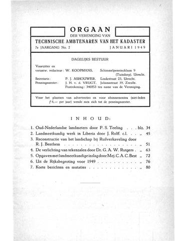 Orgaan der Vereeniging TAK 1949