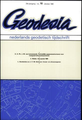 (NGT) Geodesia 1981-10-01