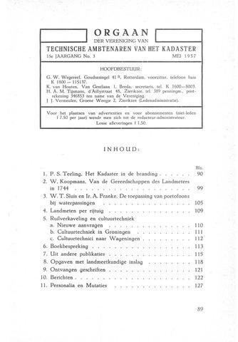 Orgaan der Vereeniging TAK 1957-05-01