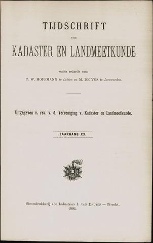 Tijdschrift voor Kadaster en Landmeetkunde (KenL) 1904