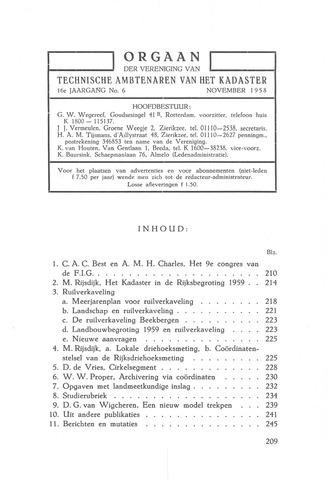 Orgaan der Vereeniging TAK 1958-11-01