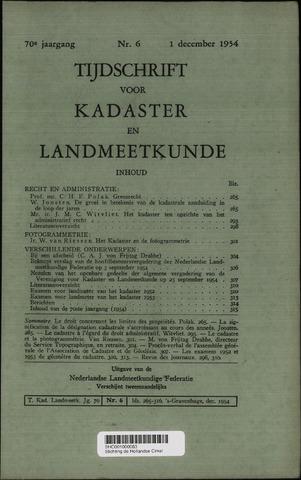 Tijdschrift voor Kadaster en Landmeetkunde (KenL) 1954-12-01