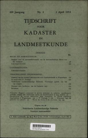 Tijdschrift voor Kadaster en Landmeetkunde (KenL) 1953-04-01