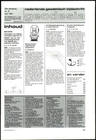 (NGT) Geodesia 1991-05-01