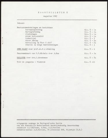 Kaartbulletin 1965-08-01