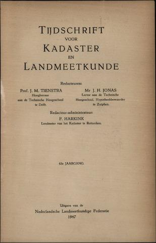 Tijdschrift voor Kadaster en Landmeetkunde (KenL) 1947