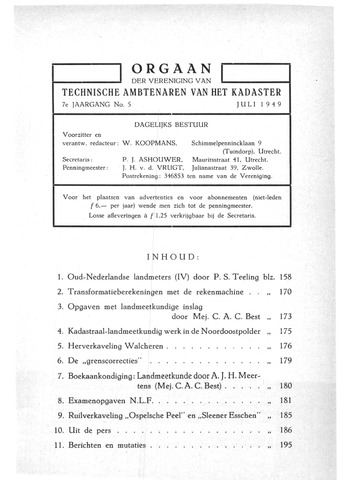 Orgaan der Vereeniging TAK 1949-07-01