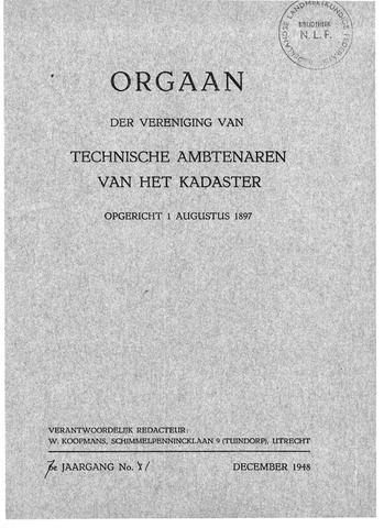 Orgaan der Vereeniging TAK 1948-12-01