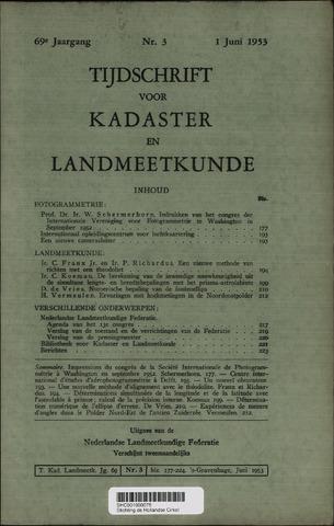Tijdschrift voor Kadaster en Landmeetkunde (KenL) 1953-06-01