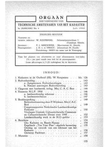 Orgaan der Vereeniging TAK 1950-07-01