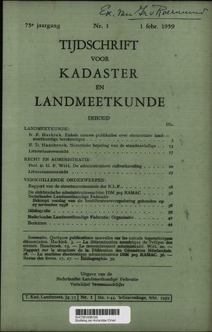 Tijdschrift voor Kadaster en Landmeetkunde (KenL) 1959