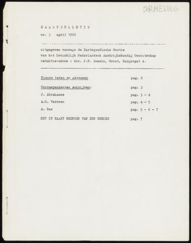 Kaartbulletin 1962