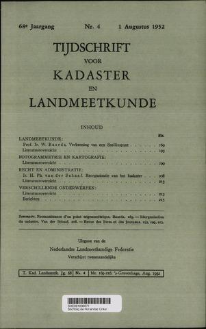 Tijdschrift voor Kadaster en Landmeetkunde (KenL) 1952-08-01