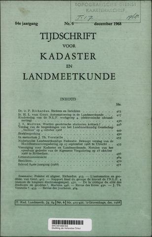 Tijdschrift voor Kadaster en Landmeetkunde (KenL) 1968-12-01