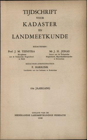 Tijdschrift voor Kadaster en Landmeetkunde (KenL) 1948