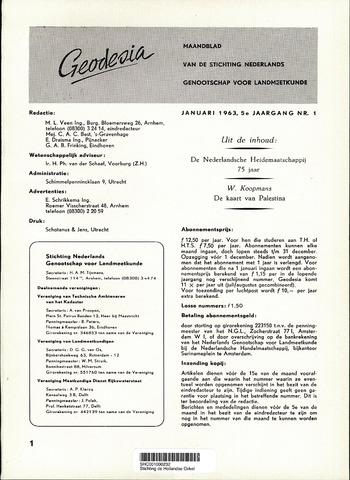 (NGT) Geodesia 1963-01-01