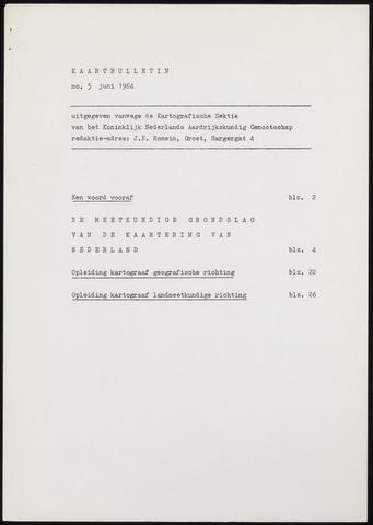 Kaartbulletin 1964-06-01