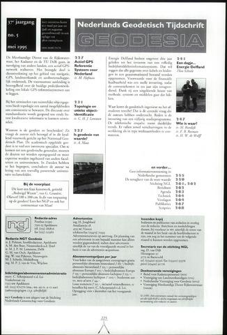 (NGT) Geodesia 1995-05-01