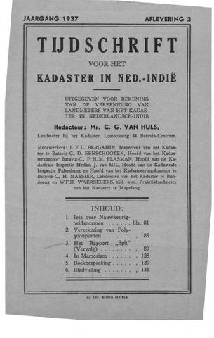 Tijdschrift voor het Kadaster in Ned.-Indië 1937-04-01