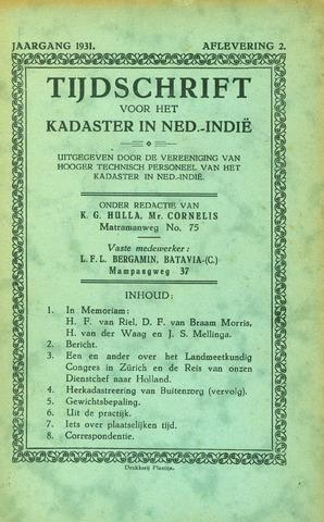 Tijdschrift voor het Kadaster in Ned.-Indië 1931-07-01