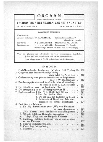 Orgaan der Vereeniging TAK 1949-09-01