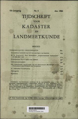 Tijdschrift voor Kadaster en Landmeetkunde (KenL) 1966-12-01