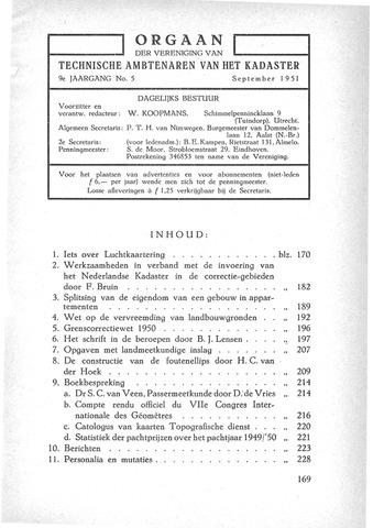 Orgaan der Vereeniging TAK 1951-09-01