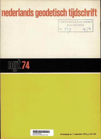 Nederlands Geodetisch Tijdschrift (NGT) 1974-09-01