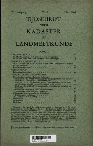 Tijdschrift voor Kadaster en Landmeetkunde (KenL) 1962