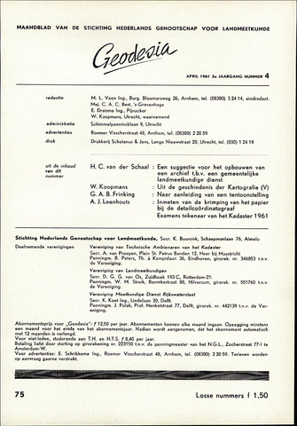 (NGT) Geodesia 1961-04-01