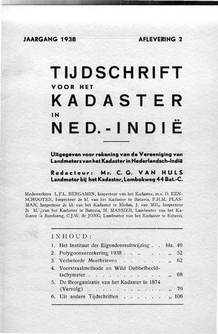 Tijdschrift voor het Kadaster in Ned.-Indië 1938-04-01