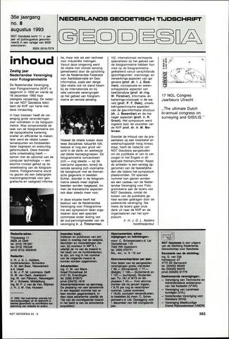 (NGT) Geodesia 1993-08-01