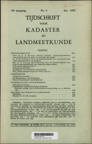 Tijdschrift voor Kadaster en Landmeetkunde (KenL) 1962-12-01
