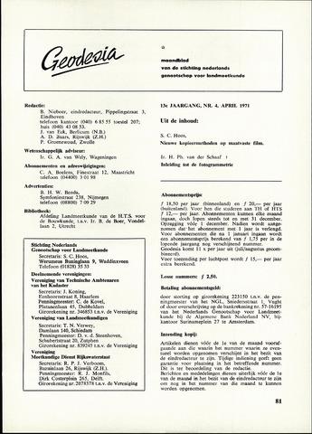 (NGT) Geodesia 1971-04-01