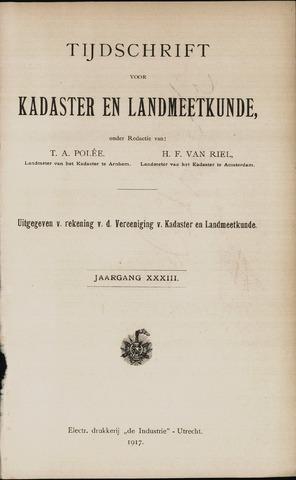 Tijdschrift voor Kadaster en Landmeetkunde (KenL) 1917