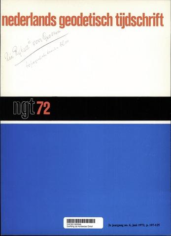 Nederlands Geodetisch Tijdschrift (NGT) 1972-06-01