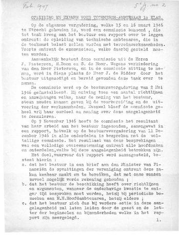 Orgaan der Vereeniging TAK 1947