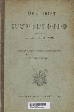 Tijdschrift voor Kadaster en Landmeetkunde (KenL) 1887
