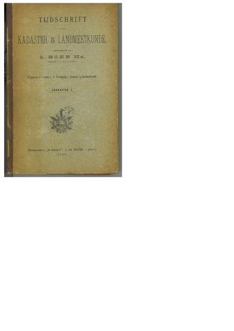 Tijdschrift voor Kadaster en Landmeetkunde (KenL) 1885