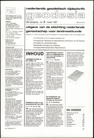 (NGT) Geodesia 1987-03-01